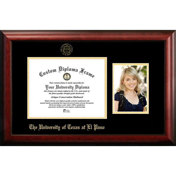 University Of Texas El Paso 11w X 8 5h Gold Embossed Diploma Frame With 5 X7 Portrait Walmart Com Walmart Com