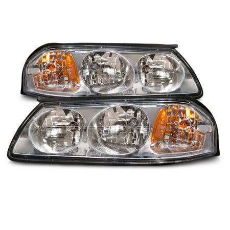 2000-2005 Chevrolet Impala Chrome Headlights Set w/Performance Lens GM2502201 and GM2503201