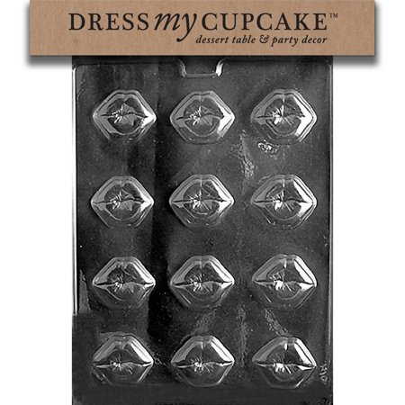 Chocolate Candy Mold, Kiss Lips, Valentine's Day, Classic, FDA approved plastic chocolate mold; Search for over 3000 other designs by Dress My.., By Dress My -