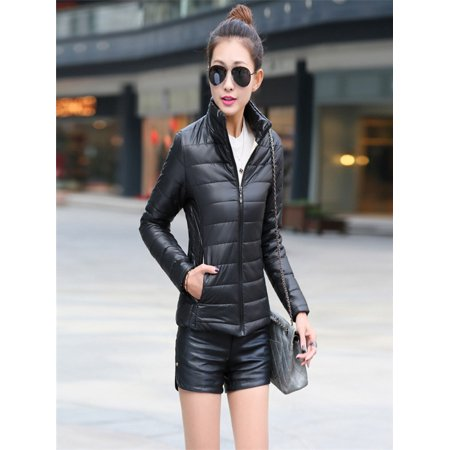 Womens Warm Coat Stand Collar Jacket Slim Winter Parka Outwear Coats