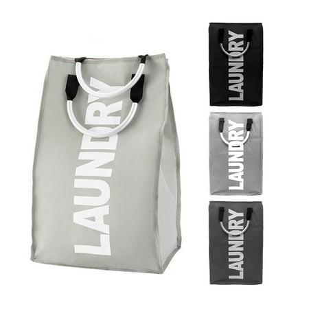Foldable Laundry Washing Basket Fabric Bag Hamper Dirty Clothes Storage
