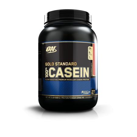 Optimum Nutrition Gold Standard 100% Casein Protein Powder, Strawberry, 24g Protein, 2 Lb (Optimum Casein 2 Pound)
