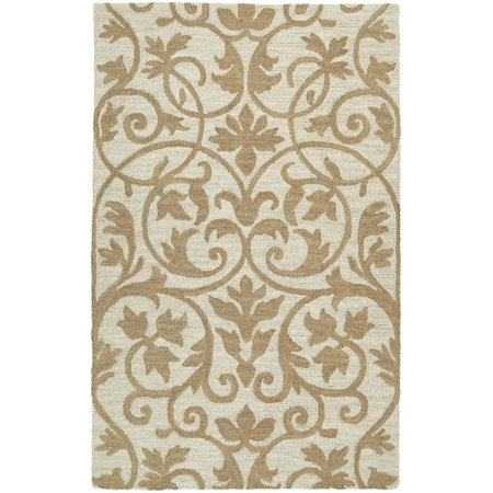 Kaleen Rugs Carriage Hand-Tufted Area Rug, Brown/Cream, 8' x 10'