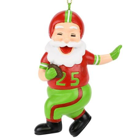 - Tree Buddees Touchdown Santa Christmas Sports Football Ornament (Xmas Colors)