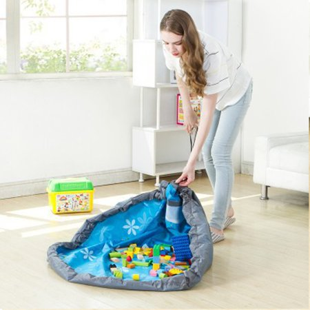 60 inch Thicker Water Resistant Drawstring Toy Storage Bag,Toy Organizer Bag Round Picnic Mat Bag Kids Floor Activity Mat, Play Bag,Quick Pouch for Storing Small Medium Size Toys