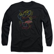 Mighty Mouse Neon Hero Mens Long Sleeve Shirt