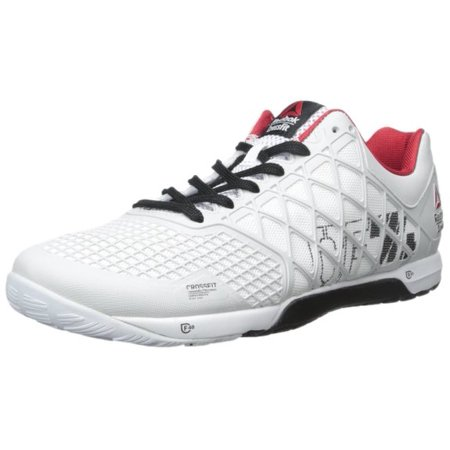 Reebok - Mens Reebok CrossFit Nano 4.0 - Porcelain Black White Excellent Red  (8) - Walmart.com 332c26e6f55