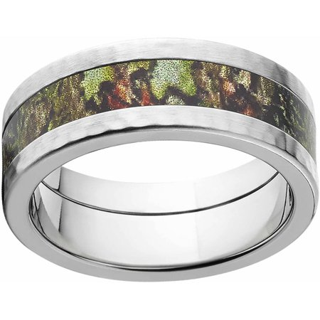 Comfort Fit Hammer (Obsession Men's Camo 8mm Stainless Steel Band with Hammered Edges and Deluxe Comfort Fit)