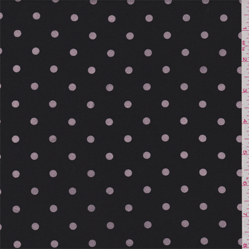 Black/Pink Dot Faille Suiting, Fabric By the Yard