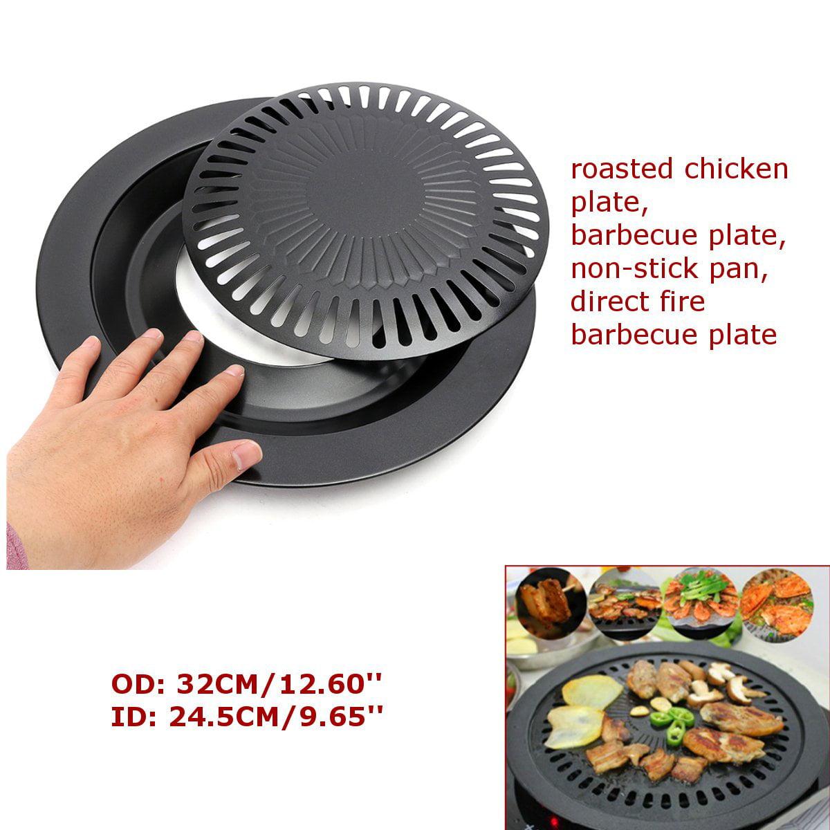 31.5 cm Korean Style Non-Stick Smokeless Indoor Barbecue Poêle Grill Cuisinière Plaque