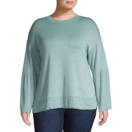 Plus Classic Long-Sleeve Top Calvin Klein Long Sleeve Pullover
