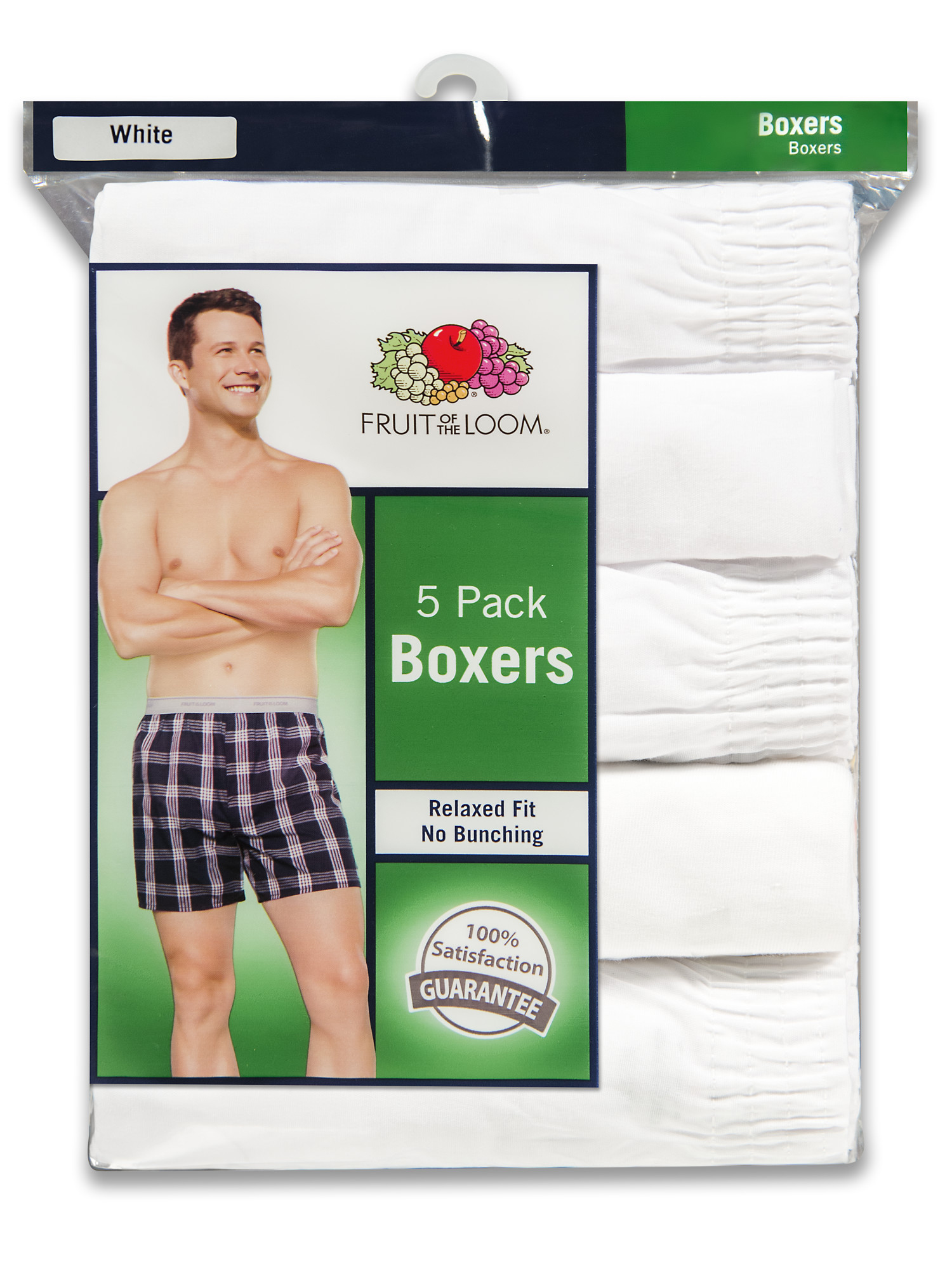 Fruit of the Loom Mens Premium Woven Boxer 4 Pack
