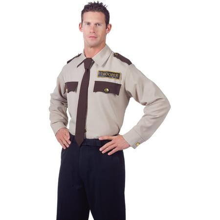 Men's State Trooper Law Enforcement Costume Shirt