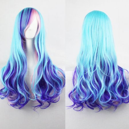Male Wigs Long Hair (DYMADE Women Lady Multi-Color Lolita Style Long Wave Hair Fancy Cosplay Party Hair)