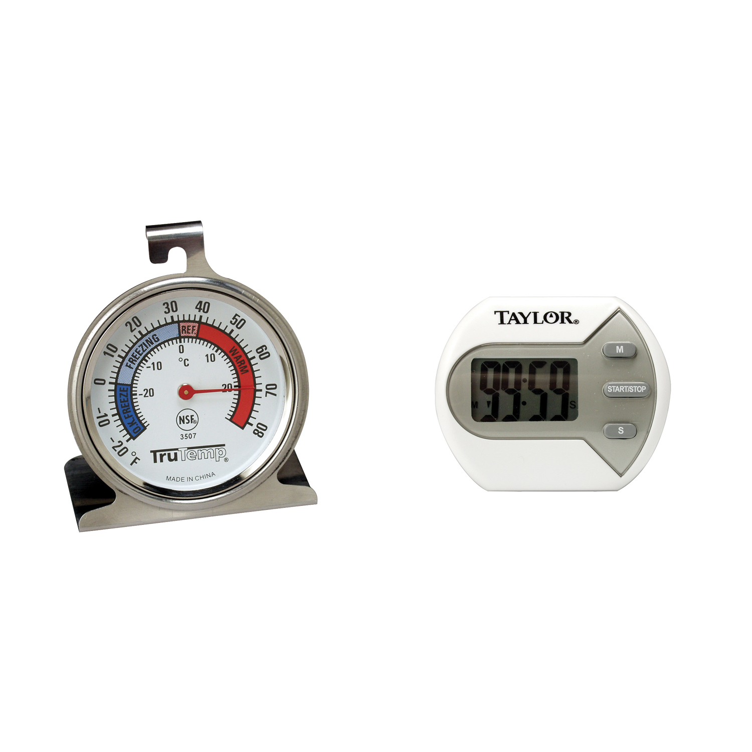 2-Pack Taylor Precision Freezer Thermometer 2.5 Dial Durable Stainless Steel