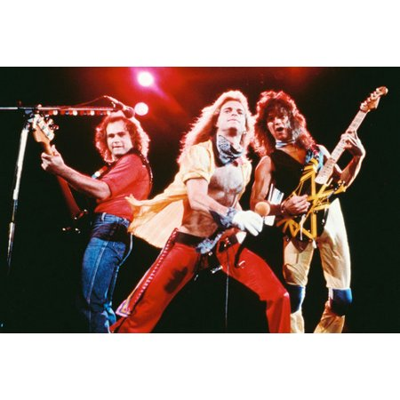 Van Halen David Lee Roth Barechested Eddie Iconic Concert Guitars 24x36 Poster (David Lee Roth Poster)