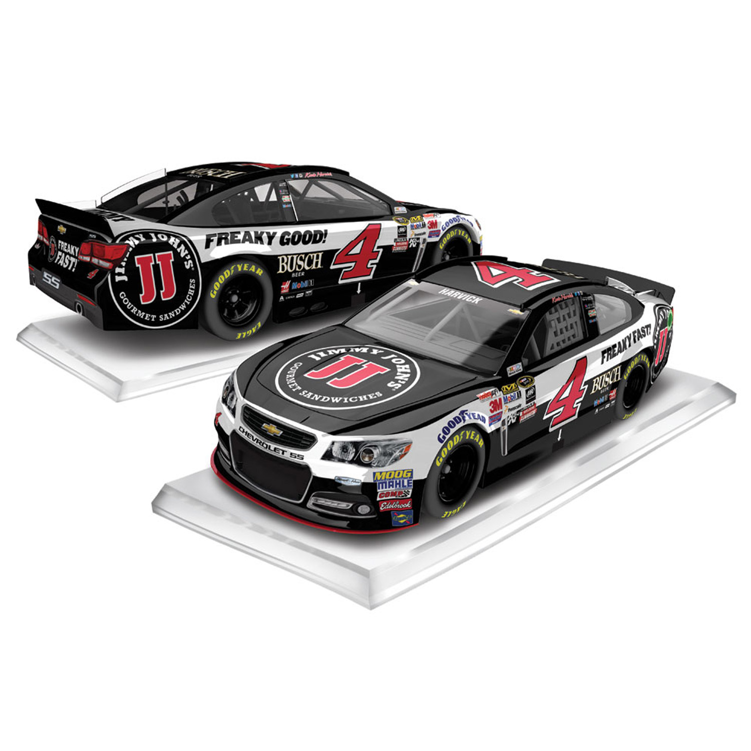 Kevin Harvick Action Racing Regular Paint Jimmy John's 1:64 Die-Cast - No Size