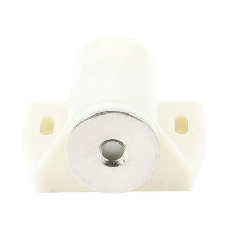 Unique Bargains Beige Magnet Head Plastic Housing Cabinet Catch Latch 1.4