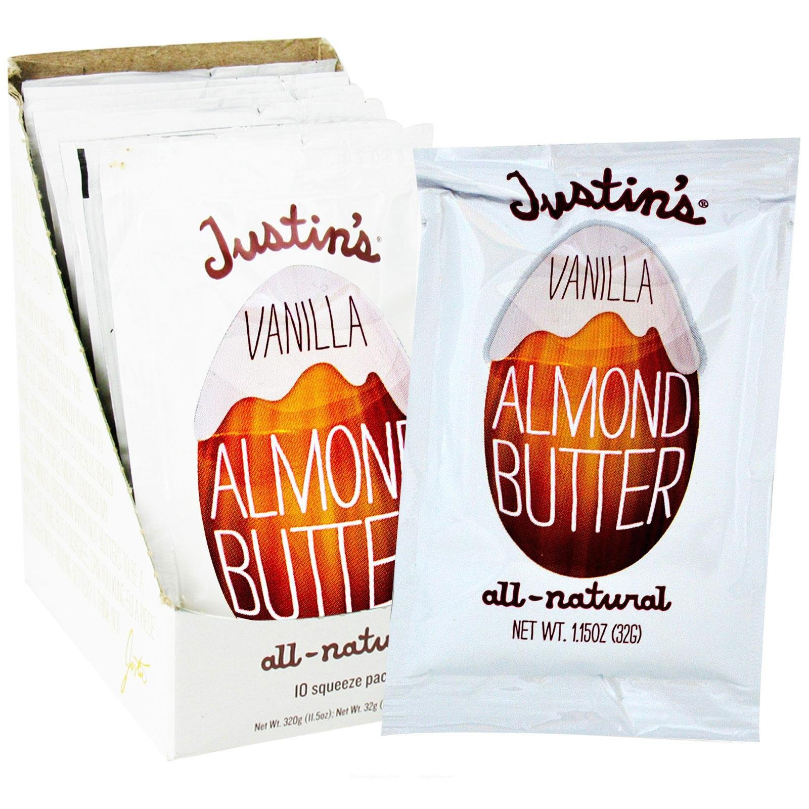 Fresca Foods 00311 Vanilla Almond Butter, 1.15 Oz Squeeze Pack, 10/box