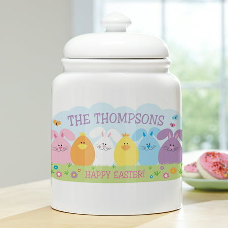 Personalized Spring Friends Treat/Cookie Jar