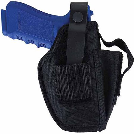 "Allen Company Ambidextrous Semi Automatic Handgun Holster, Large 4.5"" To 5"" Barrel Length, Black, Model 44503"