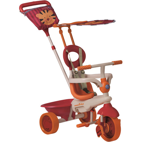 Smart Trike Safari Tiger 4-in-1 Tricycle, Orange/Red