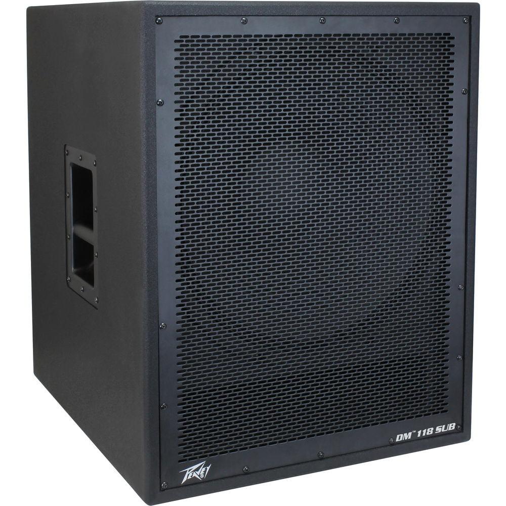 "Peavey DM 118 SUB Pro Audio DJ Dark Matter 18"" Powered 800W Peak Sub Subwoofer - Factory Certified Refurbished"
