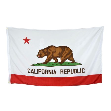 Shop72 US California State Flags - California Flag - 3x5' Flag From Sturdy 100D Polyester - Canvas Header Brass Grommets Double Stitched From Wind