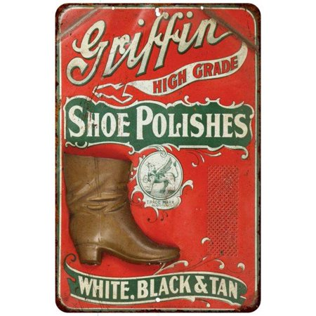 Griffin High Grade Shoe Polishes Vintage Look Reproduction 8X12 Sign 8120482