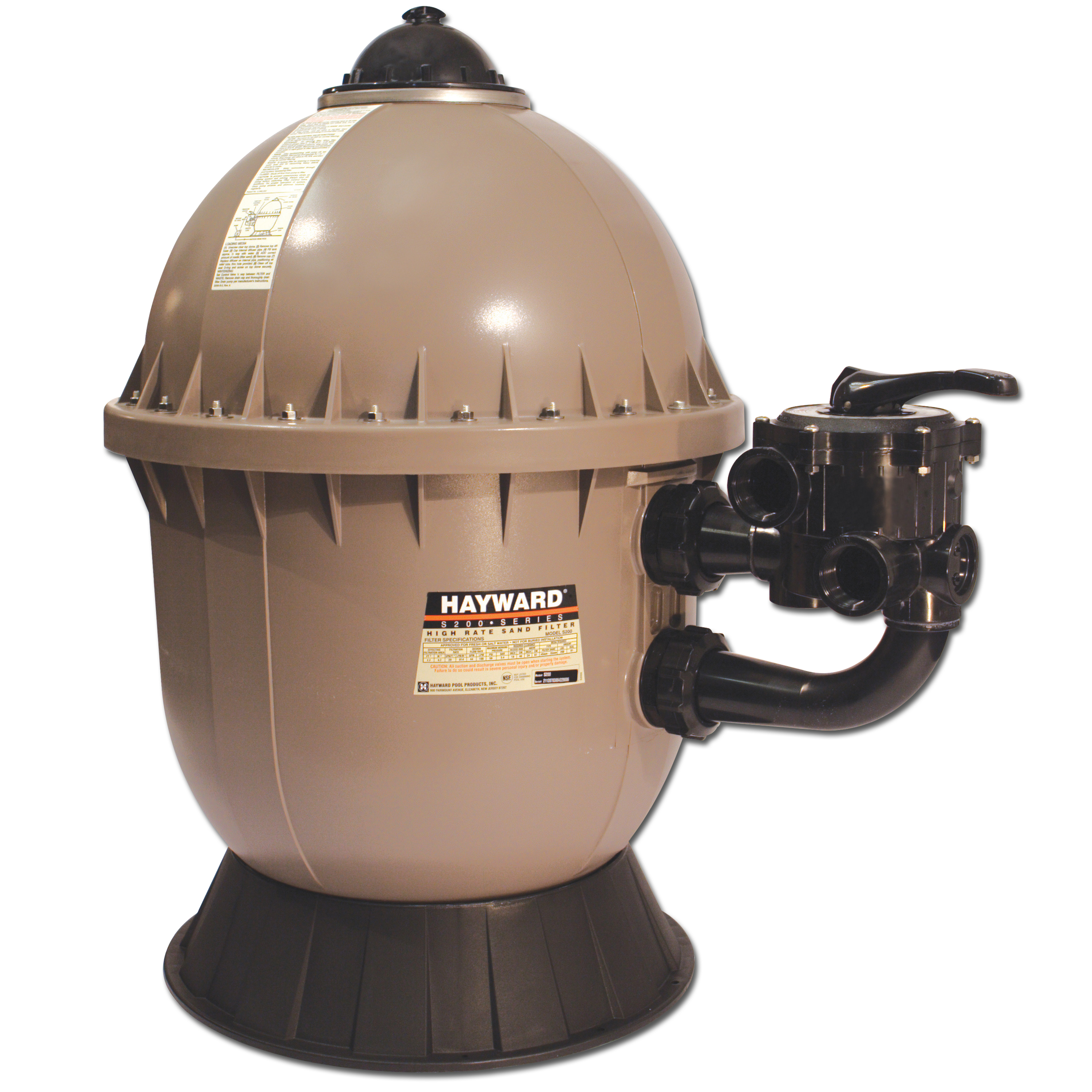 Hayward High Rate Side Mount In Ground Pool Sand Filter - S200