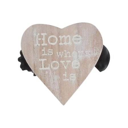 Evideco Amore Wooden Heart Clip Curtain Tieback (Set of 2) ()