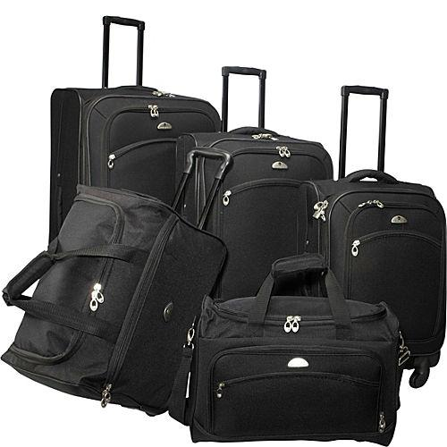 American Flyer South West Collection 5 Piece Luggage Set