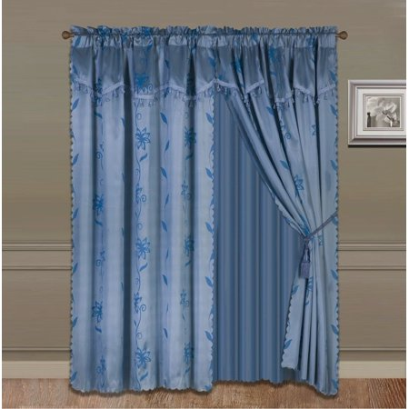 Slate Blue Sheer Curtains 4 Pc Slate Blue Sheer Window Panels Mona Perfume United Curtain