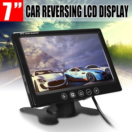 7 inch TFT LCD Colour CCTV Security Camera Car Reverse Backup Monitor Two way video input Remote Control - image 8 de 8