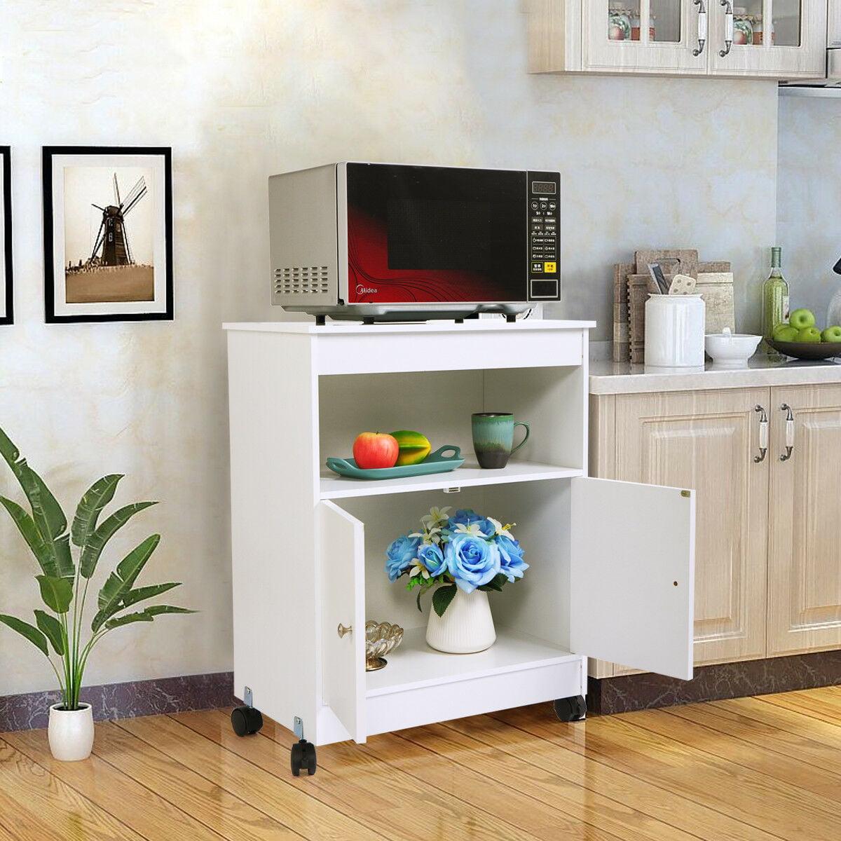 Veryke Kitchen Cabinet, Wooden Kitchen Carts and Islands ...