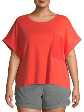 Avia Women's Plus Size Active Cotton Tee Shirt