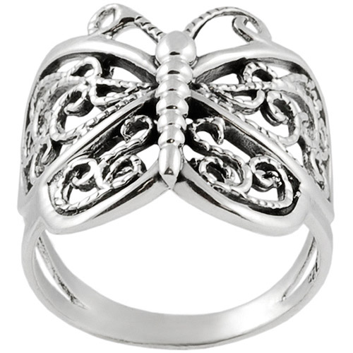 Brinley Co. Butterfly Wrap Ring in Sterling Silver