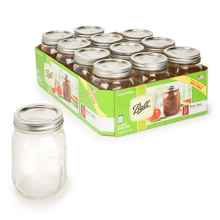 Ball Mason Jar With Lid: Small Mouth, 16 oz - Halloween Craft Jars