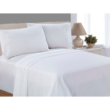 Mainstays 100% Cotton Percale, 200 Thread Count Sheet Set, King