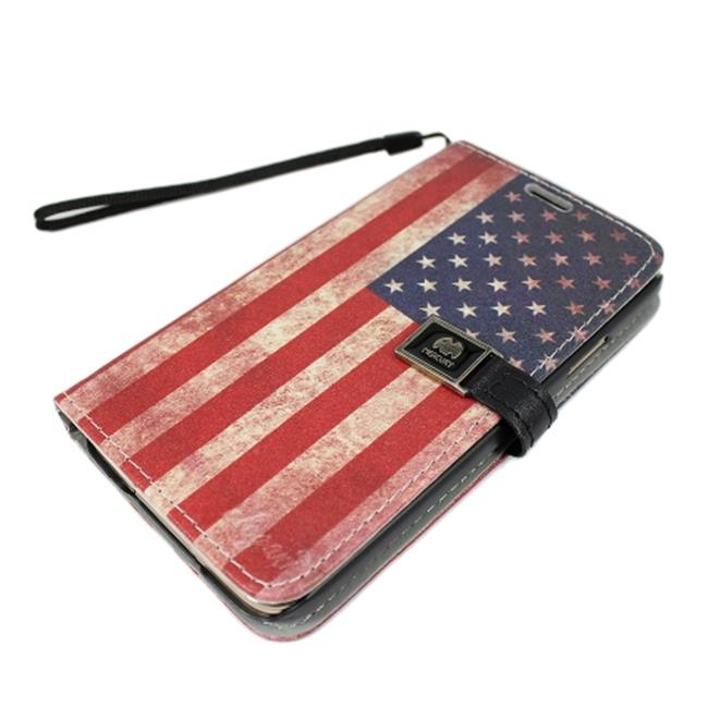Flip Cover Stand Case for Samsung Galaxy S5, American Flag - image 1 of 1