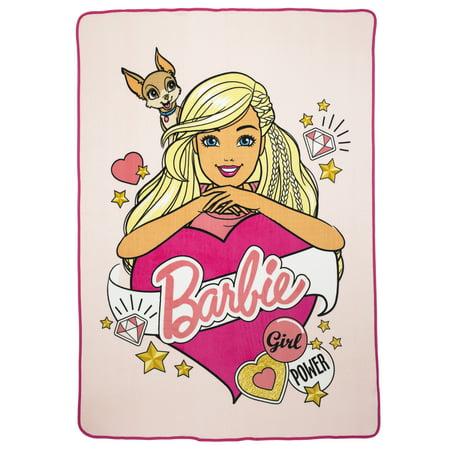 Barbie Kids Plush Blanket, Kids Bedding, 62 x 90, Barbie's Kitty - Kitty Blanket