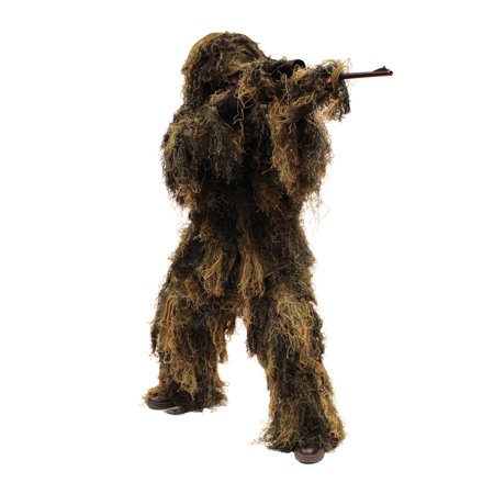 Red Rock 70915M/L 5 Piece Lightweight Adult Woodland Ghillie Suit, - Halloween Ghillie Suit