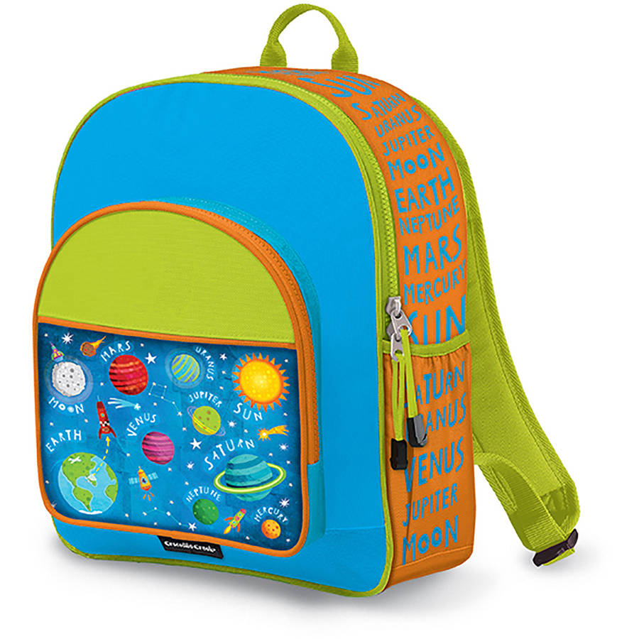 "Crocodile Creek Eco Kids Solar System Kids School Backpack, 14"", Blue"