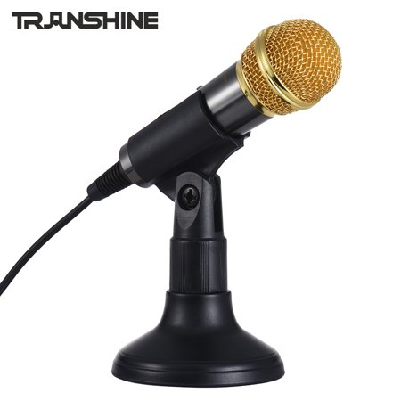 TRanshine PC-309 Mini Vocal/Instrument Microphone Portable Handheld Karaoke Singing Recording Mic with Stand Bracket Holder for Android Smartphone PC Mobile Phone Laptop Notebook - image 7 de 7