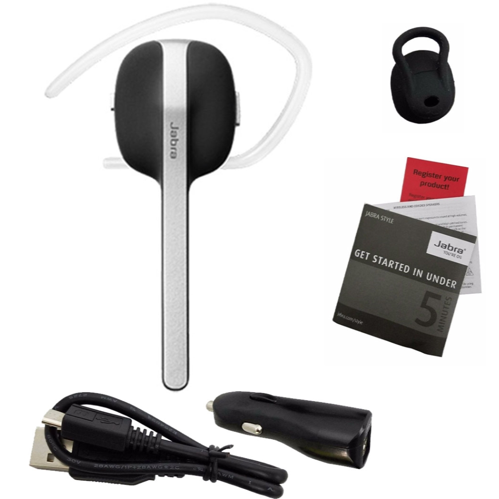Jabra Style Wireless Bluetooth 4.0 Stream Music GPS Calls Headset - 100-99600000-02  (Open Box)