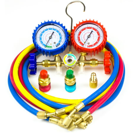 AC Refrigeration Kit R12 R22 R134a R502 Manifold Gauge Set Refrigeration Charge