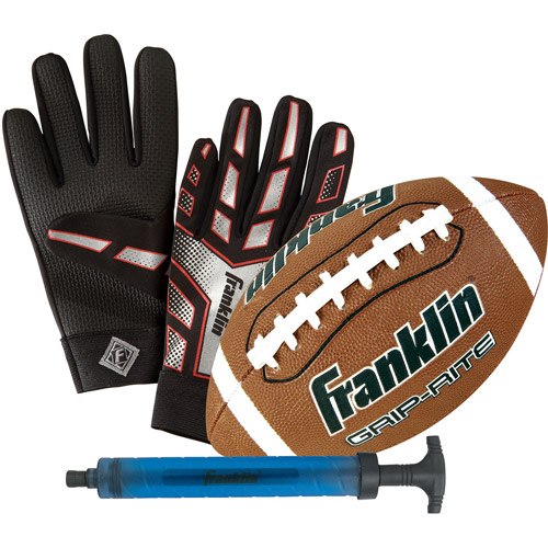 Franklin Sports Junior Grip-Rite Football/Receiver Gloves/Pump