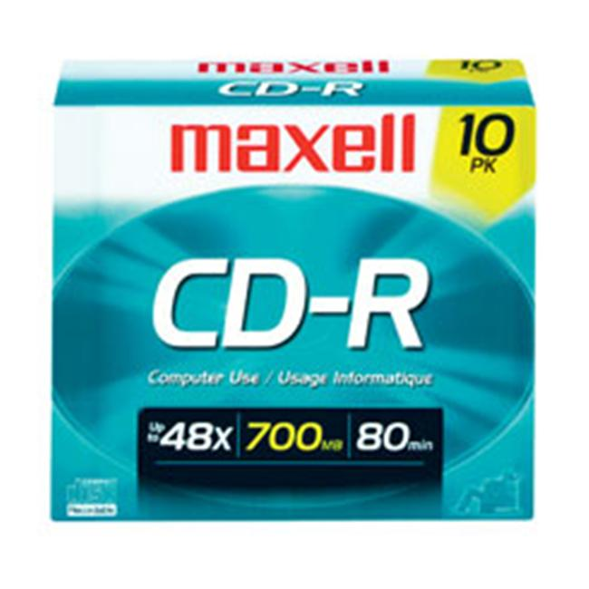 MAXELL 648210 MEDIA CDR 80 700MB 10PK WITH JEWELCASE