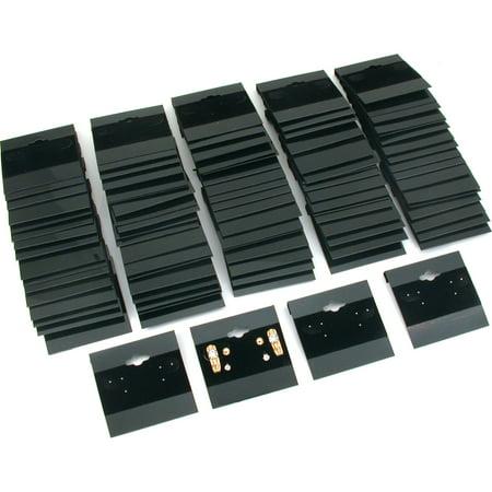 100 Black Flocked Hanging Earring Cards For Revolving Rotating Displays 2