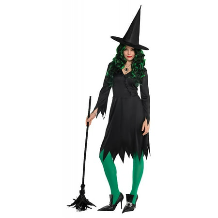 Wicked Witch Adult Costume - Standard - Wicked Halloween Costumes Uk